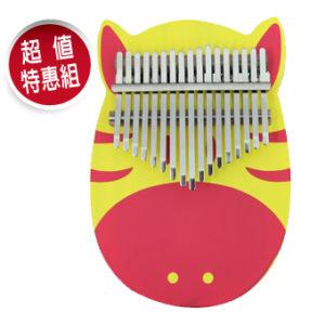 馬到成功(紅黃條紋) 南方松 板式 卡林巴 拇指琴