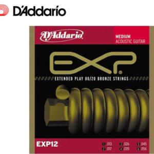 木吉他弦 DADDARIO EXP12 黃銅 13-56