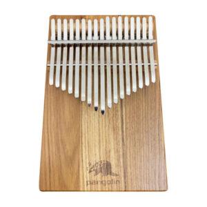 Pangolin 緬甸柚木 板式實木拼接 卡林巴 拇指琴 霧銀鋼片