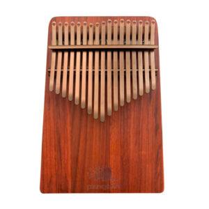 非洲酸枝(紅壇)實木拼接 鍍鈦鋼片 玫瑰金 板式卡林巴 姆指琴