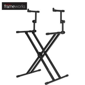 Gator Frameworks 雙X型雙層鍵盤架 琴架 GFW-KEY-5100X