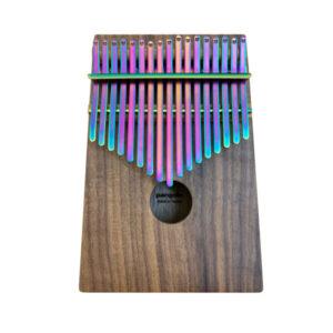 胡桃木 鍍鈦鋼片五彩紫 箱式實木 卡林巴琴 拇指琴