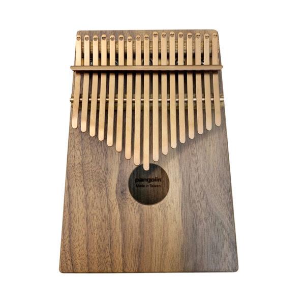 胡桃木 鍍鈦鋼片玫瑰金 箱式實木卡林巴琴 拇指琴