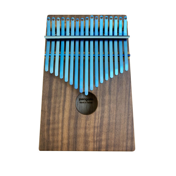 胡桃木 鍍鈦鋼片海軍藍 箱式實木 卡林巴琴 拇指琴