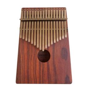 非洲酸枝(紅壇) 鍍鈦鋼片玫瑰金 箱式實木 卡林巴 拇指琴