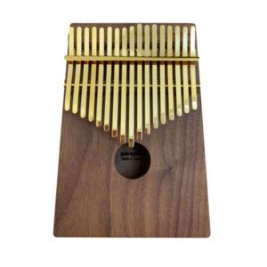 胡桃木 箱式實木 金色鋼片 卡林巴琴 拇指琴