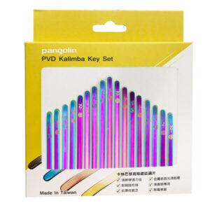 卡林巴琴 拇指琴 五彩紫鋼片彩色音階印刷套組 音名鋼片