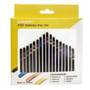 卡林巴琴 拇指琴 曜岩黑鋼片彩色音階印刷套組 音名鋼片
