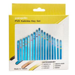 卡林巴琴 拇指琴 海軍藍鋼片彩色音階印刷套組 音名鋼片