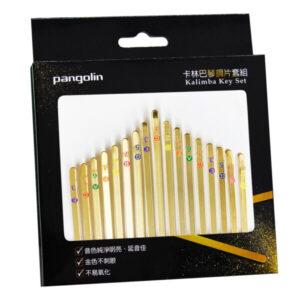 卡林巴琴 拇指琴 金色鋼片彩色音階印刷套組 音名鋼片
