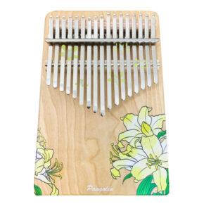 花的祝福-杜鵑花(黃) 買一送一 樺木實木 板式卡林巴 拇指琴