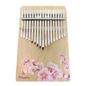 花的祝福-梅花(粉) 買一送一 樺木實木 板式卡林巴 拇指琴