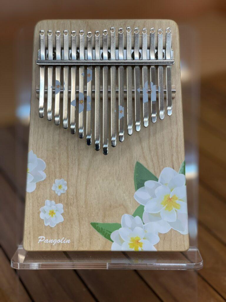 花的祝福-梔子花(白) 買一送一 樺木實木 板式卡林巴 拇指琴