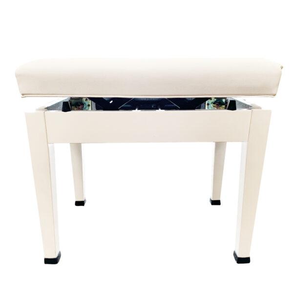 高級升降椅(白色) 鋼琴專用升降琴椅 鋼琴亮漆